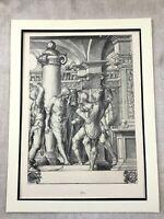 Antik Aufdruck Selten Hans Holbein Passion der Christus Jesus Kreuzigung Malerei