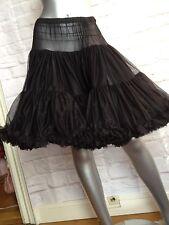 Betsey Johnson Black Extra Full Tutu Crinoline Skirt NWT $200 Size S
