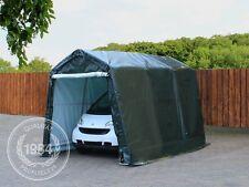 2,4 x 3,6 m Garagen Zelt Carport Lager Garten Fahrrad Geräte Unterstand grün NEU
