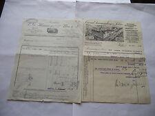 2 RECHNUNGEN: 1928 SIMMENDINGER SÖHNE ,STUTTGART&1929 L.G. MANNE FABRIK,ULM A D.