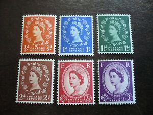 Stamps - Great Britain - Scott# 317c-322d - Wilding Definitives - Graphite Issue