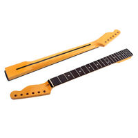 22 Fret 56.3mm Maple Guitar Neck for TL Tele Natural Yellow Gloss Rosewood Inlay