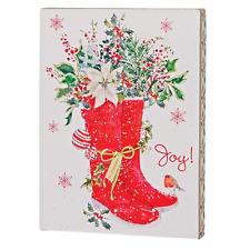 Santa's Boots Box Sign