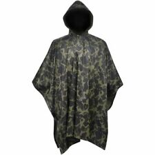 vidaXL Waterproof Army Rain Poncho for Camping/Hiking Camouflage Raincoat Cape