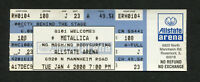 2000 Metallica Kid Rock Sevendust Unused Full Concert Ticket Rosemont IL M2K