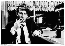 """Tom Waits - Amsterdam, 1976 -   33"""" x 24""""  B&W POSTER"""