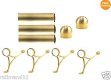 12 FT.  BRUSHED BRASS BAR FOOT RAIL KIT FOR HOME BAR-BRASS TUBE RAILING