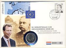 LUXEMBURG - 2 Euro 2005 - NUMISBRIEF - 50. Geburtstag von GROSSHERZOG HENRI
