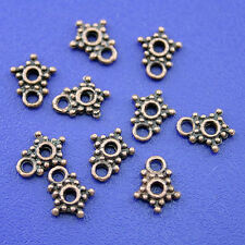 100pcs copper-tone studded star spacer beads h1819