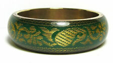 Wonderful Vintage Brass & Plastic Bangle Bracelet