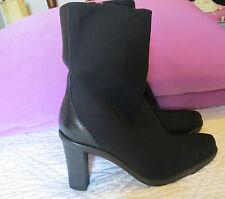 Donald J Pliner ladies black fabric dress boots sz 5.5 $295 3 inch heels