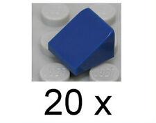 LEGO - 20 x Mini - Dachstein dunkelblau 1x1x2/3, 30 Grad / 54200 NEUWARE