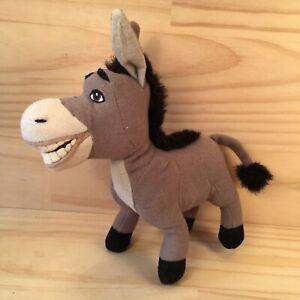 "SHREK ""Grey"" Awesome Kids Donkey Movie Character Soft Toy Stuffed Animal"