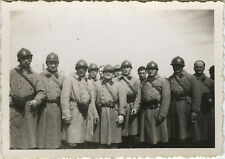 PHOTO ANCIENNE - VINTAGE SNAPSHOT - MILITAIRE GROUPE UNIFORME CASQUE - MILITARY