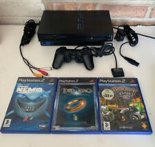 Sony Playstation 2 PS2 Console Black SCPH-50003 - With 3 Kids Games -  PAL