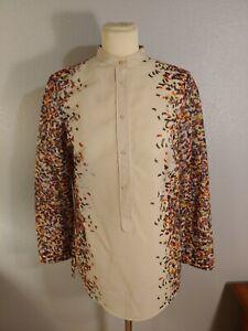 Akris Punto Size 8 Confetti Tunic Mandarin Collar Long Sleeve Cotton