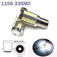 White Front Turn Signal Light 1156 BA15S P21W 7506 3497 1141 33 LED Bulb A1 LAX