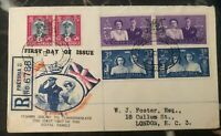 1947 Pretoria South Africa First Day Cover FDC Royal Visit To London UK MXE