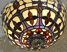 OAKS TIFFANY STAINED GLASS UPLIGHTER CEILING FITTING OT/1051/16R