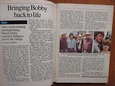 Oct 18-1986 TV Guide(PATRICK  DUFFY/MICHAEL HOGAN/DENNIS WELSH/CANADIAN EDITION)