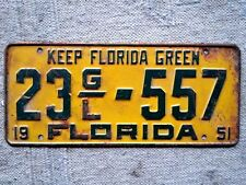 FLORIDA License Plate Tag 1951 - Low Shipping
