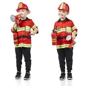 Milly & Ted Fireman Dress Up Set Childrens Role Play Outfit Boys Fancy Dress