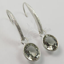Genuine GREEN AMETHYST Gemstones Hot Fashion Earrings 925 Solid Sterling Silver