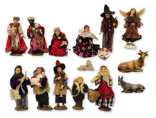 Krippen Ankleidefiguren Krippenfiguren Set alpenländisch 15-teilig Größe 12cm