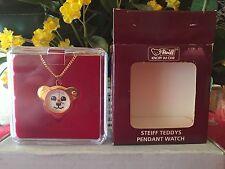 STEIFF  Teddy Pendant Watch, EAN# 606618, Yellow, NEW, Mint w/Steiff box
