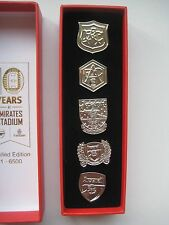 Arsenal FC Pin Badge Collection - Limited Edition 10 Years at Emirates Stadium