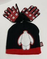Big Hero 6 Disney Boy's Knit Winter Hat Red/Black New w/o tags