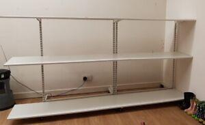 White Wooden Shelves Retail Display 457 mm X  2440 mm x 1 shelf £4.80 per shelf