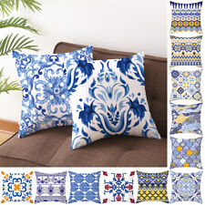 """UK 18"""" Waterproof Cushion Cover Decorative Pillow Case Throw Outdoor Home Decor"""