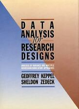 Data Analysis for Research Designs (Series of Books in Psychology) by Keppel, G