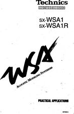 Technics SX-WSA-1R Synthesizer Owners Instruction Manual Reprint