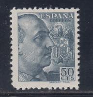 ESPAÑA (1939) NUEVO SIN FIJASELLOS MNH SPAIN - EDIFIL 872 (50 cts) FRANCO LOTE 1