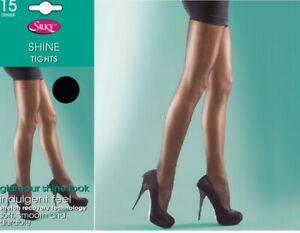 Silky Shine Glamour Look Glossy Tights 15 Denier 4 Colours Sizes L & XL