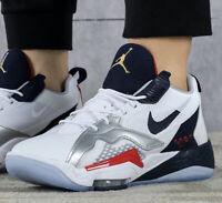 New AIR JORDAN Zoom 92 Team USA Athletic Sneaker Hi Top Mens wht navy size 10.5