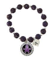 Infinity Lupus Warrior cancer Ribbon Charms en daim cuir tressé Bracelet