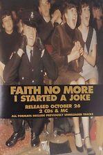 """40x60"""" HUGE SUBWAY POSTER~Faith No More 1995 I Started a Joke NOS Original Rare~"""