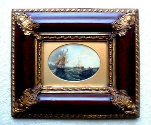Carvers and Gilders Framed Nautical Antique Picture