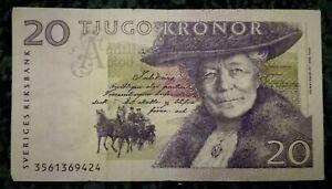 SWERIGES / SWEDEN 20 Kronor Banknote 1997.