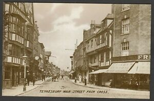 Postcard Tewkesbury Gloucestershire the High Street from Cross early view
