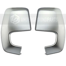 FORD TRANSIT CUSTOM SATIN CHROME MATT SILVER SIDE DOOR WING MIRROR COVERS CAPS