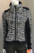 NWT Monari Italia Woman Zip Front Jacket SZ8 US 38Eu BlackWithe BoutiqueQuality