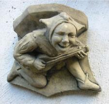 Konsole Sockel Stütze Narr Troll Kunst Sandstein Antik Look Steinguß T 13 ROT