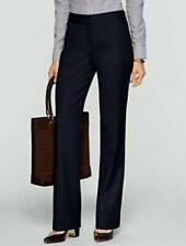 NEW $129 TALBOTS ~ CURVY Fit Black Italian Flannel Wide-Leg Pants Sz 10