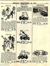 1982 ADVERT Hasbro GI Joe Army Uniforms Tuff Trucks Mattel Barbie Jeans Malibu