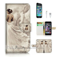 ( For iPhone 7 Plus ) Wallet Case Cover P2622 Beautiful Girl