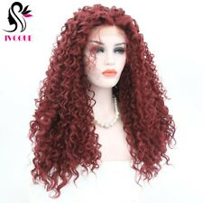 Burgundy Full Lace Wig Virgin Brazilian Kinky Curly Glueless Human Hair Wig #99J